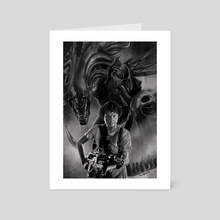 Ripley vs Queen - Art Card by Chris Enterline