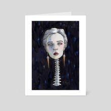 Spine - Art Card by Glummingbird