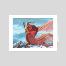 Hegyi Gyam, The Mountain Guardian - Art Card by Ramzi Firhad