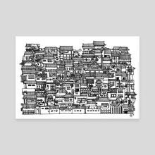 Busy City IX - Canvas by Scarlett Fu