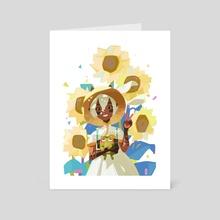 Sunflowers - Art Card by Julia Zhilyaeva