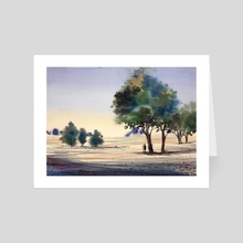 In the shade - Art Card by Sujit Sudhi