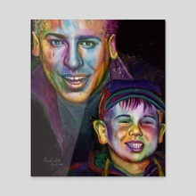 Father and Son  - Acrylic by Danika Scott