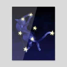 star comma catching - Acrylic by Süti Halmágyi