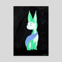 Cold + Sleepy - Canvas by sphiaeko