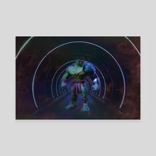 Hulk smash - Canvas by Lia PS Art
