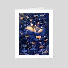The Good-Morrow - John Donne  - Art Card by Amita Sevellaraja