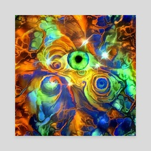 Green Eye - Canvas by Bruce Rolff