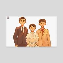 Family  - Canvas by Mariz Dela Cruz