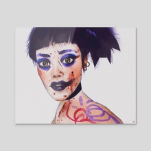 Love, Death and Robots - The Witness (Woman) - Acrylic by Aydn Candemir