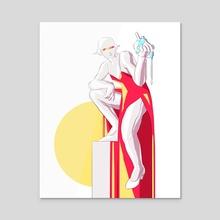Heart - Acrylic by Modjeska Hutchings