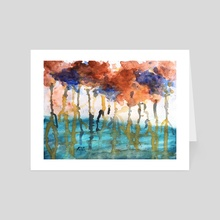 Abstract storm - Art Card by Tomas Albergo