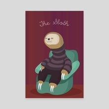 The Sloth - Canvas by Maria José Da Luz