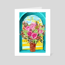 The Good Vibes Flower Pot - Art Card by 83 Oranges