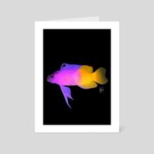 "Royal Gramma, ""Finding Nemo"" Gurgle - Art Card by Fabiana Pereira"