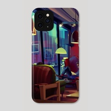 coffee place - Phone Case by Michał Sawtyruk