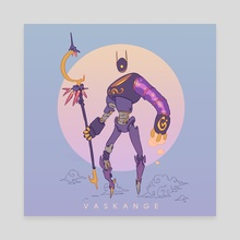 Magician robot - Canvas by Vaskange