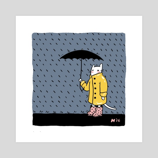 Rainy Cat by Christine Suggs