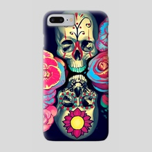 A Dream of Skulls and Flowers - Phone Case by Brad Collins