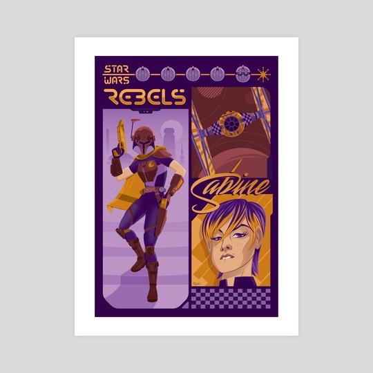Rebel 1: Sabine Wren by Gregory Sokol