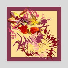 Tropical flowers mix - Canvas by NiRa surface design