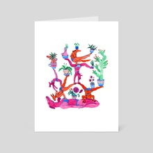 Gymnastics - Art Card by Lisa Hanawalt