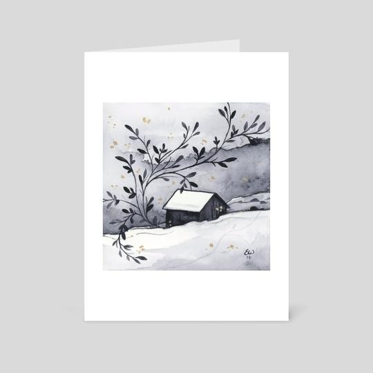 Winter Cabin by Ellen Wilberg