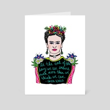 Frida! - Art Card by Allie Oliver-Burns