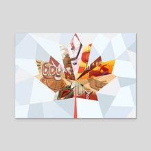 Canadian Mosaic - Acrylic by Clayton Nguyen