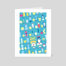 Pop Wonderland - Art Card by Justyna Babinska
