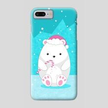 Polar bear - Phone Case by e Drawings38