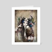 Wild Thing - Art Card by juri hayasaka chinchilla