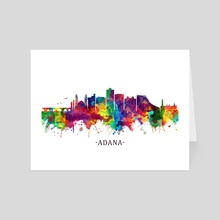 Adana Turkey Skyline - Art Card by Towseef Dar