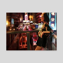 City Nights - Canvas by Emme Srinivas