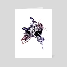 Wolf raven scream off - Art Card by Pablo Puentes