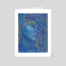 Blue - Art Card by Moriah Thielges