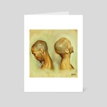 Portrait print - Art Card by Okan Bülbül