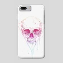 Skull in triangle - Phone Case by Balazs Solti