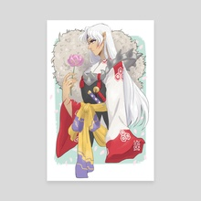 Sesshomaru - Canvas by Lavender Surles