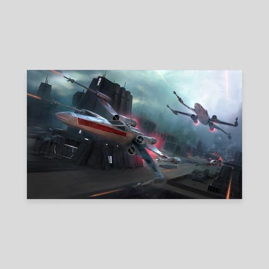 STAR WARS Storm Run by Derek Weselake