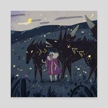 Wolf GIrl - Canvas by Jana Zafirovska