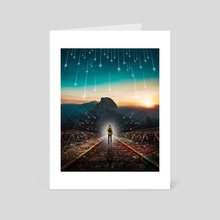 I Am A Shooting Star - Art Card by Mike Soo