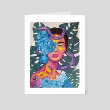 cobra lily - Art Card by Linda Bluth