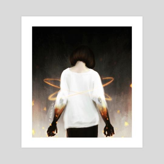 Burning star  by Anwaar Alshehab