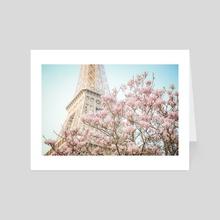 Eiffel Tower in Spring - Art Card by Karina L