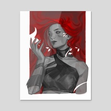 Ivy - Acrylic by Aina Aksaeva