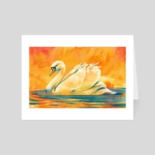 Swan Study - Art Card by Loral Uber