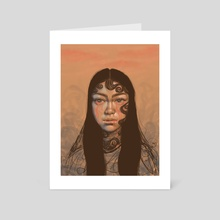 Baby Hairs - Art Card by Avery Williams