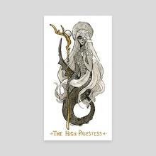 Mermaid Tarot Series- The High Priestess - Canvas by Faith Schaffer