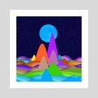 Fanciful Hills -3 - Art Print by Vidka Art